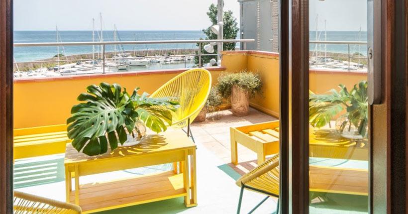 muebles de madera maciza para apartamentos de exterior
