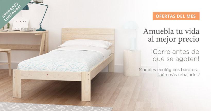 ofertas, chollos y descuentos en muebles ecológicos de madera certificada