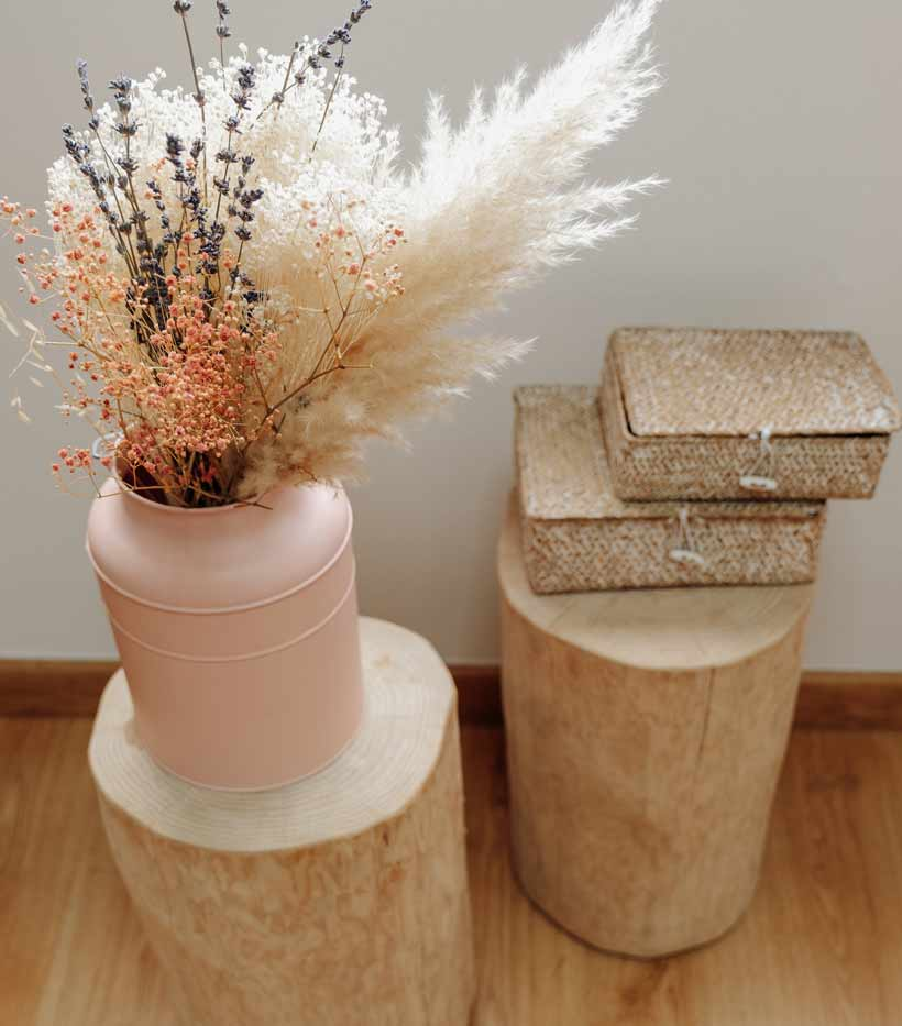 tronco de madera maciza para decorar oficina, negocio o tienda de moda