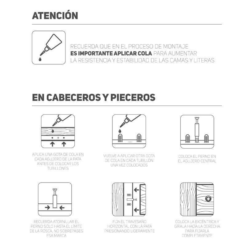 Instrucciones para montar las Literas de madera de Muebles LUFE