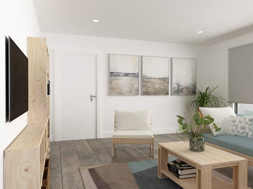 muebles ecologicos para decorar salones modernos