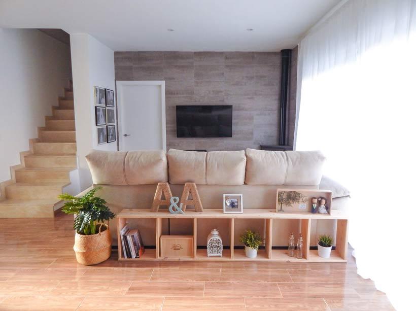 Estanterías para decorar salones modernos estilo nórdico