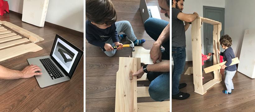 Camas de madera apilables resistentes y baratas filosofía montessori fáciles de montar