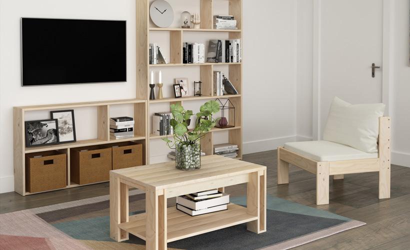 Muebles de madera ecológicos y sostenibles para enviar a Canarias y resto de España