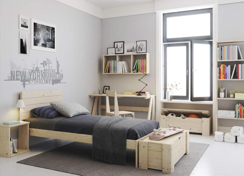 ideas y consejos para decorar una habitación juvenil con muebles baratos y ecológicos