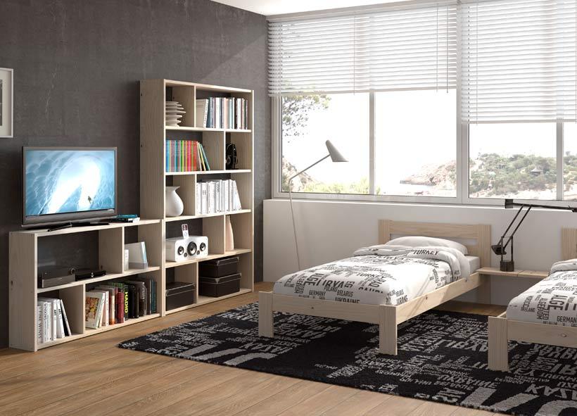 Muebles baratos para habitación juvenil compartida de madera ecológica