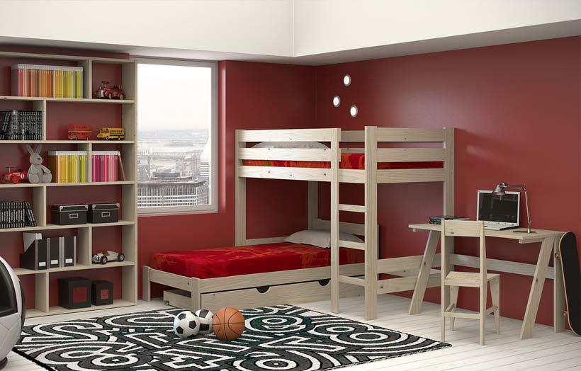 Dormitorios juveniles amueblados con muebles baratos y ecológicos
