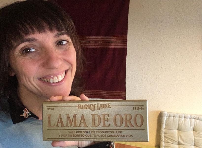 Maya, segunda ganadora de la lama de oro sorteo Willy Wonka de Muebles LUFE