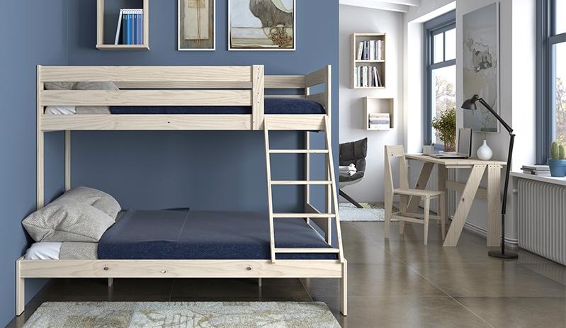 Con las camas LUFE y TESTA, dormitorios funcionales con mucho espacio extra.