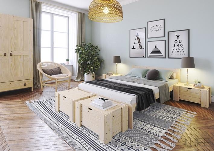 LUFE cama matrimonio con cajones de almacenaje