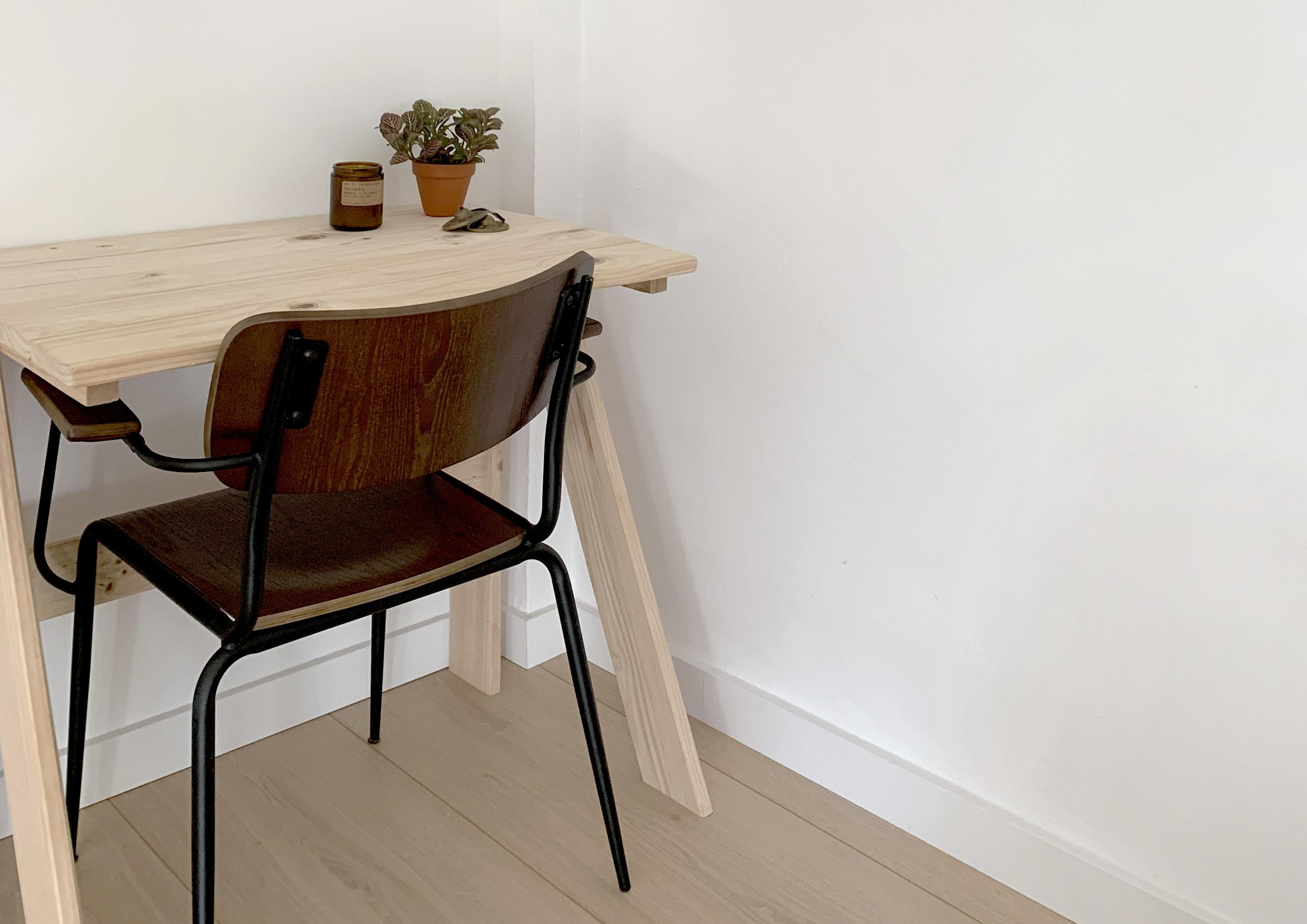 mesa de escritorio y estudio de madera maciza
